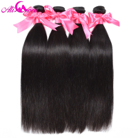 Ali Coco Malaysian Hair Bundles 4 PCS Straight Human Hair Bundle Deals #2/1/4/27/Natural color Non Remy Human Hair Weaves