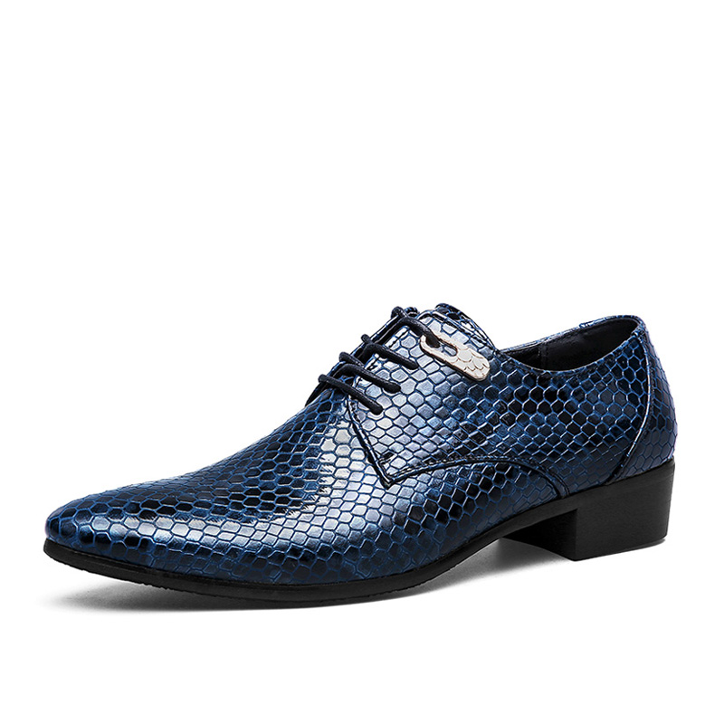 large size mens casual business formal dress snake print genuine leather shoes pointed toe office wedding nightclub shoe comfort top quality crocodile grain black oxfords mens dress shoes genuine leather business shoes mens formal wedding shoes