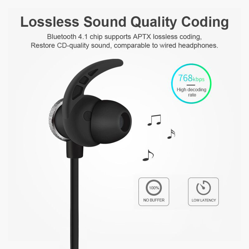 Wireless Sport Earphones Lightweight Heavy Bass Sound Earphone Bluetooth V4.1 With Mic For Xiaomi Iphone Samsung Headset