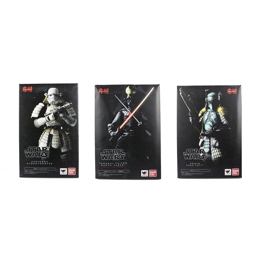 "3x <font><b>Star</b></font> <font><b>Wars</b></font> Samurai Taisho Darth Vader & Ashigaru Stormtrooper & <font><b>Ronin</b></font> <font><b>Boba</b></font> <font><b>Fett</b></font> <font><b>7</b></font>"" Action Figure Hasbro0191"