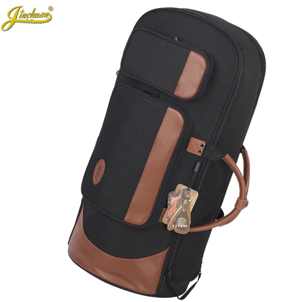 New Professional Portable Luxury standing key bond horn bag euphonium case three flat key horn soft gig backpack cover shoulder 90cm professional portable bamboo chinese dizi flute bag gig soft case design concert cover backpack adjustable shoulder strap