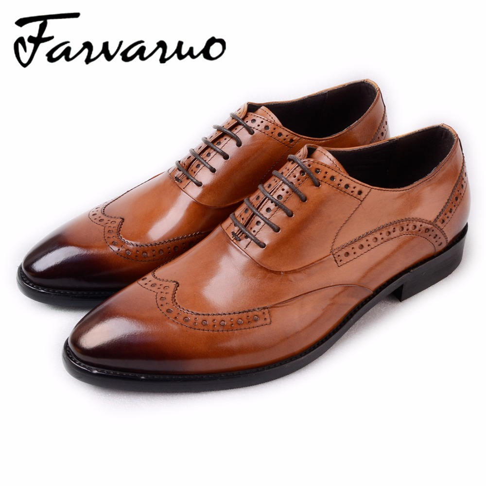 Branded Men's Black Patent Shoe Carved Oxfords Brogue Summer Comfortable Office Shoes oxford for Men in Genuine Leather Bullock bullock luxury carved patent leather men shoe business brogue genuine leather casual shoes men flats oxford shoes big size 38 48