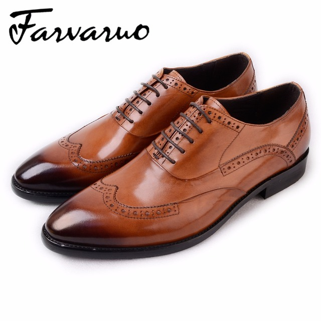 Branded Men S Black Patent Shoe Carved Oxfords Brogue Summer Comfortable Office Shoes Oxford For In