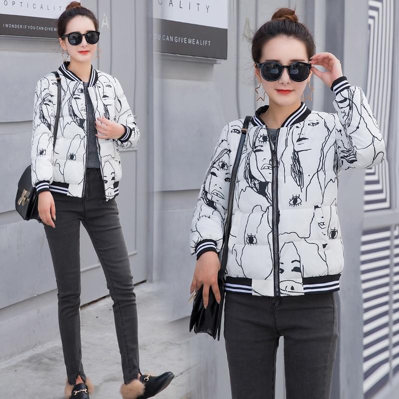 gray Mode Mince Uniforme 2018 Personnalité Trendy Noir White Femmes Office Épais De balck Baseball P819 Parkas Lady Hiver La red 17zq qHpPWgAq
