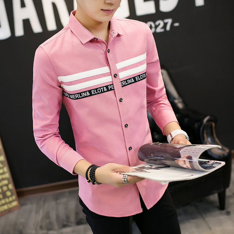 2017 Fashion font b Men b font Long sleeved font b Shirt b font High quality