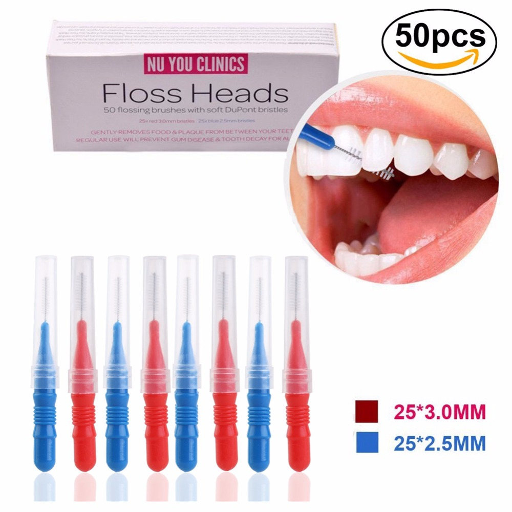 Flossing-Head Toothpick Dental-Flosser-Brush Teeth-Head Oral-Hygiene Healthy for 50pcs/Pack