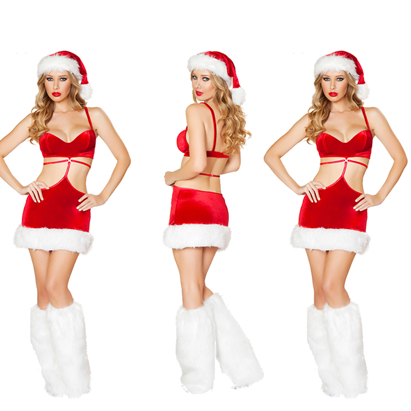2018 explosions sexy wrapped chest dress red uniforms temptation party to play clothing uniform temptation
