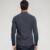 2017 de Primavera Para Hombre de La Moda Camisas de Algodón de Lino Color Sólido Gris brand clothing manga larga slim fit para hombre del desgaste de ropa Tops