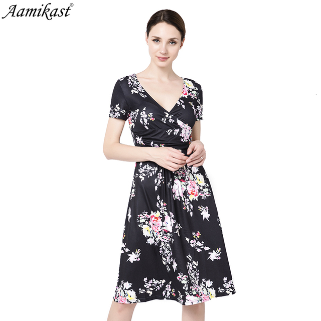 Aamikast Dress Women s Floral Print Vintage Dress Plus Size Sweet Lady Shor  Sleeve V Neck Casual Summer Chiffon Chinese Style Dr fe939b8de057