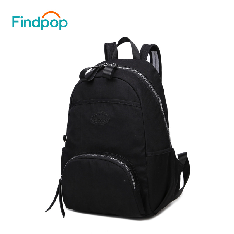 Findpop Casual Black Backpack Unisex Large Capacity Waterproof Backpack Bags For Women 2018 New Fashion Canvas Backpack Mochilas findpop mochilas mujer 2017 famous brand backpack women waterproof nylon school bags student backpacks fashion casual trave bags