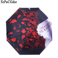 Fashion ladies creative UV umbrella black