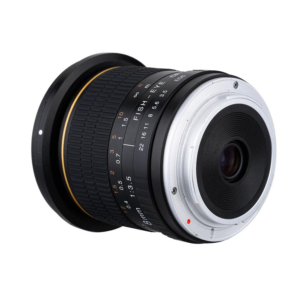 Kelda 8mm F/3.5 F3.5 Ultra Large Fisheye camera LENS pour canon 60d 650d 700d 750D 600d 550d 500d 1000d 1200D 1300D 70D 760D 80D - 5