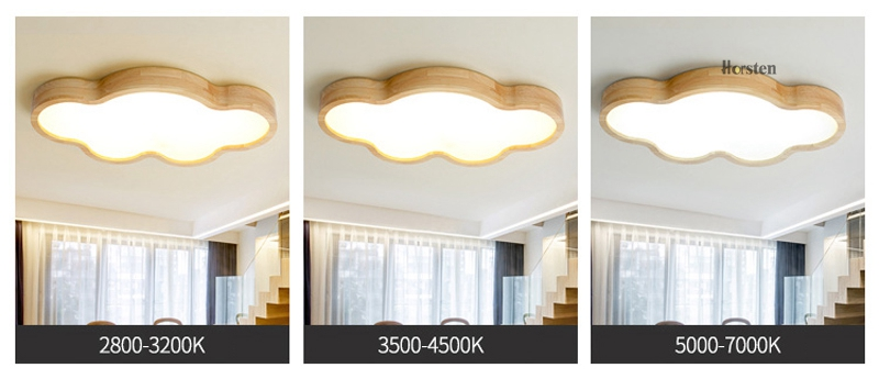 Japanese Style Room Ceiling Lights Cloud Shape LED Ceiling Light For Bedroom Kids Luminaire Cute Wooden Kitchen Lighting Fixture (4)