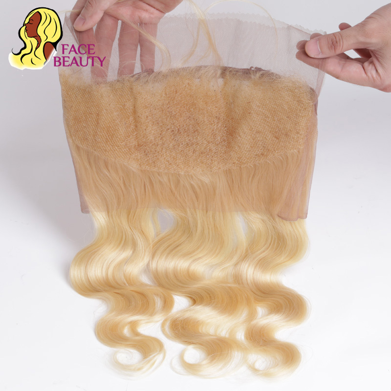 Facebeauty Pre Plucked Brazilian 360 Lace Frontal Closure Body Wave Hair Piece Blonde 613 360 Top