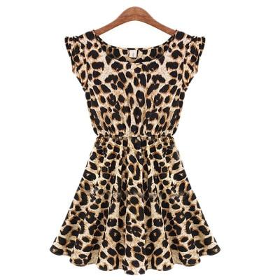 15b71c8adc Women Summer Dresses Leopard Print Dress Plus Size S-XXL Slim Beach Dress  Girl High Quality Casual Mini Dress