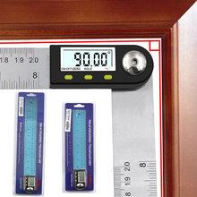 Règle numérique de goniomètre de rapporteur d'affichage à cristaux liquides d'acier inoxydable de 0-200mm 0-300mm 0-360mm