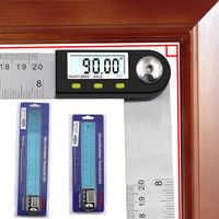 0-300mm Digital Angle Finder Meter 0-360 Degree Stainless Steel LCD Protractor Goniometer Ruler