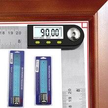 0-300mm Digitale Winkel Finder Meter 0-360 Grad Edelstahl LCD Winkelmesser Lineal