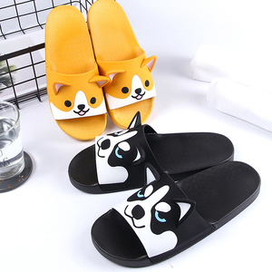 Image 2 - Women Girls Slide Sandals Cartoon Dog Cat Summer Animal Beach Slippers Platform Slides Shoes Ladies Soft Sole Flip Flops
