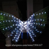 White Led Luminous ISIS Wings Light Up Butterfly Angel Wings LED Stage Performance Event Party Dress