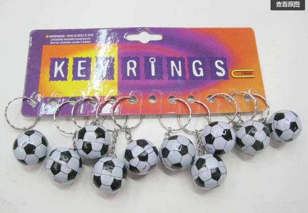 20pcs Soccer Bag Pendant Plastic Soccer Ball Keychain Small Ornaments Key Chain Sports Advertisement Souvenirs Key Ring Gifts