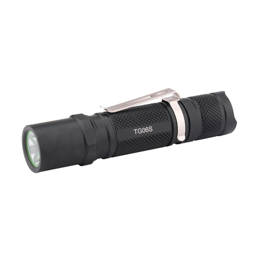 Mini Flashlight Professional Edc Tactical Light With Strobe Compact Tg06s Powered By 14500 Battery Flashlight