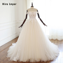 HIRE LNYER Short Sleeve A-line Wedding Dresses