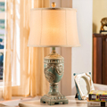 American retro nostalgia table lamp bedroom bedside lamp creative living room Continental Resin Light Mediterranea