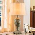 Americano nostalgia retro quarto lâmpada de mesa lâmpada de cabeceira lâmpada criativa sala Resina Continental Luz Mediterranea