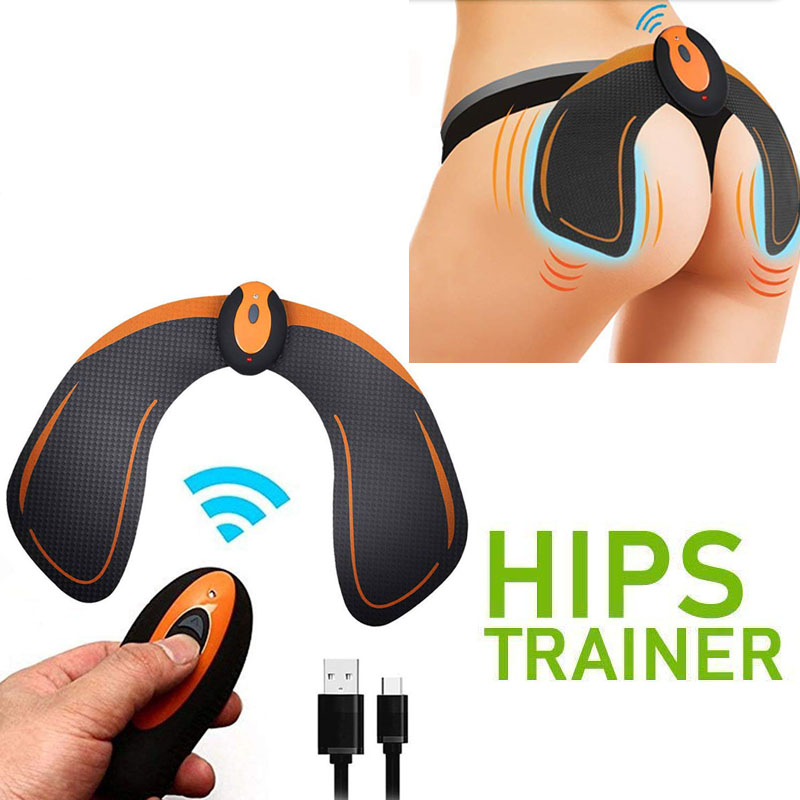 ABS Stimulator EMS Hip Trainer Vibration Massage With Remote Control Smart Buttock Toner Waist Slimming Exercise Fitness Massage