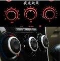 Caso da liga de alumínio botão ar condicionado AC knob para Mazda 2 Mazda 3 Mazda 6 Carro Ar Condicionado botão Interruptor de controle de calor