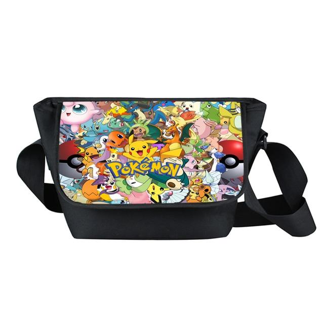 27f429242c39 Anime Pokemon Go Crossbody Bag Pikachu Boys Girls Messenger Bag Children  School Bags Kids Pokeball Should