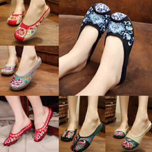 New Arrive summer fashion Old Beijing embroidery home women Slippers casual female soft shoes mujer plus size 40