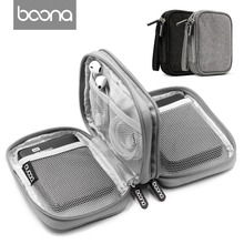 Boona Oxford Power Bank Case Hard Drive Case Box for 2.5 Hard Drive Disk USB Cable External Storage Carrying SSD HDD Case