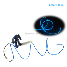 For Car Interior Decor,10 Color Choice 2.3mm Waterproof EL Wire Glowing LED Strip Thread Neon Light Not Include The EL Drives