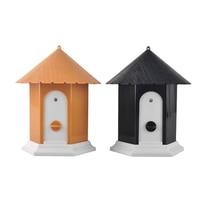 House Style Outdoor Ultrasonic Anti Pet Dog Bark Control Bark Stop Repeller Controller Birdhouse Sonic Dog Training Device