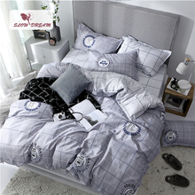 SlowDream Fashion Bedding Set Striped Bed Flat Sheet Pillowcase Bed Linen Set Duvet Cover Set Bedspread Home Textiles Nordic Set