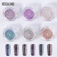 Rosalind Nail Powder 6 Colors Nail Glitter Spangles For Nail