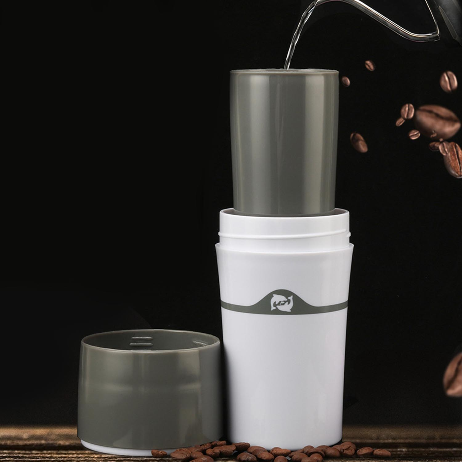 Behogar Portable Drip Coffee Maker Travel Mug with 3pcs Refillable K <font><b>Cups</b></font> for Outdoor Office Camping <font><b>Coffe</b></font> Coffee Maker image