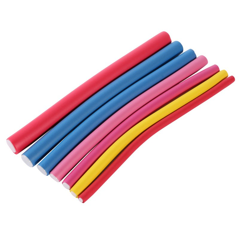 10 Pcs Foam Curler Stick Spiral Curls Tool Diy Hair