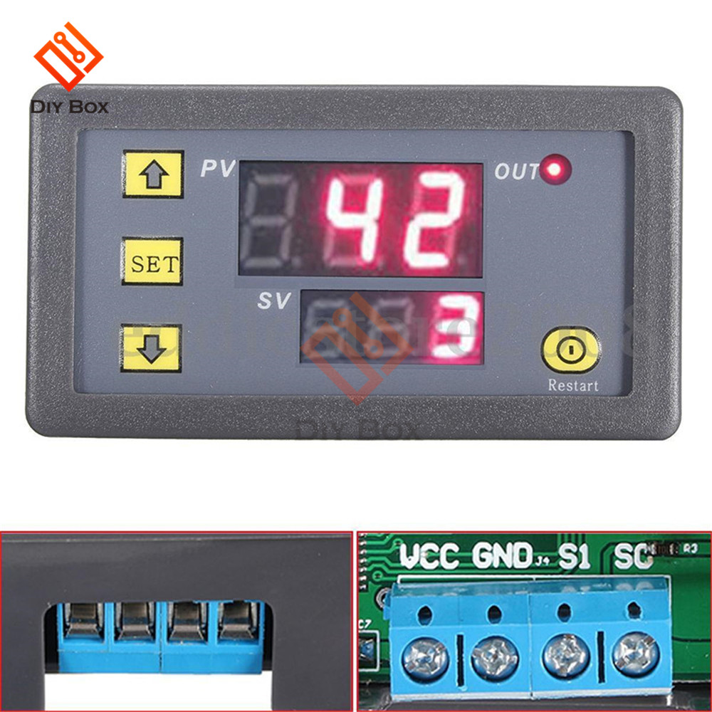 Dc 12v 24v Time Delay Relay Switch Module Double Mos Tube Control 125v Mini2440 Power Supply System Schematic Diagram Timing Cycle Timer Led Dual Digital Display Thermolator 0