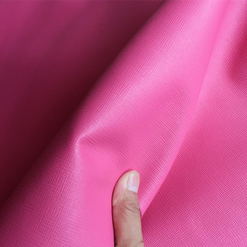 Розовый крест-накрест кожа из воловьей кожи толщиной 1.3 мм ручной DIY