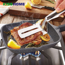 цена на Stainless Steel Food Tongs Kitchen Clamp Heat Resistant Handy Utensil For Kitchen Salad Cake Buffet Cooking Anti Heat BBQ Clip