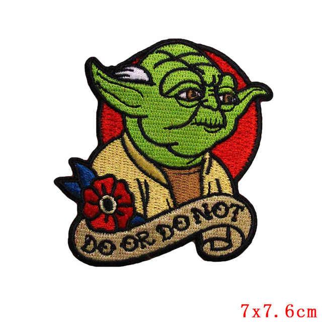 1Pcs New ARRIVAL Alien สัตว์ Yoda BB8 เหล็กบนแพทช์ PATCH PATCH สำหรับเสื้อผ้าปักซ่อม DIY Badge
