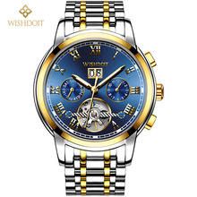 2018 WISHDOIT Men Watches Top Brand Luxury Automatic Mechanical Watch Business Waterproof Sport Relogio Masculino