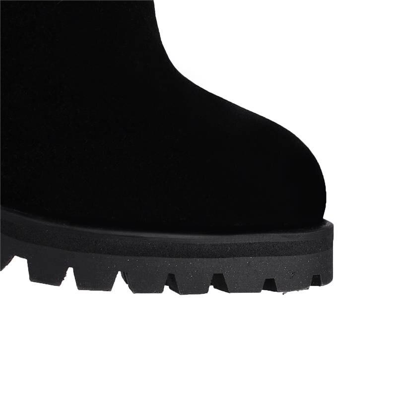 Bottes Noir Automne bleu Le Éclair Dentelle Mode Talons Hiver 2018 Rond Up Chaussures dark Brown Haut Cuisse Fermeture Nouveau De Morazora Chaud Sur Genou Haute Bout UzMpGqSLV