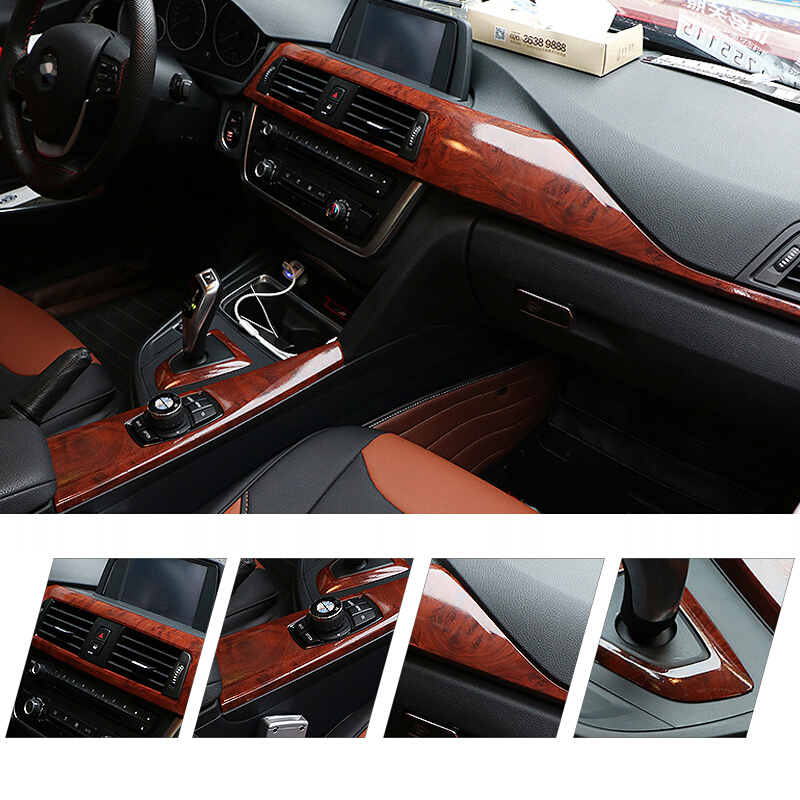 Vinyl Wrap Car Interior Trim Stickers Carbon Fiber Material Changing Color Film Wood Grain/peach Wood Car Decal Styling