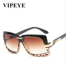 46a23455c8 Nueva gran marco de cara redonda gafas de sol para hombres y mujeres  elegante de moda personalidad frontera Plaza gafas de sol p.