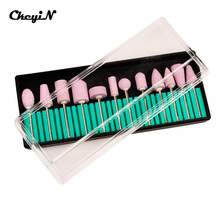 12pcs/set Professional Nail Art Polishing Grinding Head Tools Nail Art Ceramic Electric Drill Bits for manicure or pedicure