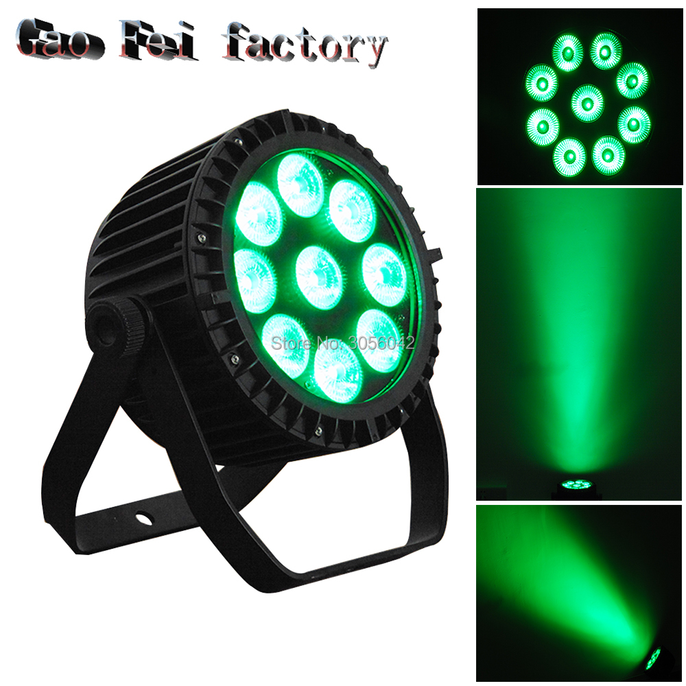 10pcs/lot 9x18 RGBWA UV 6IN1 LED FLAT SLIM IP65 Waterproof Led Par Stage Light Outdoor Par Can